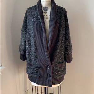 Diane Von Furstenberg  Gray Sequin Sweater